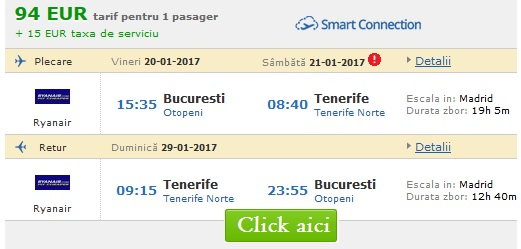 Bilete de Avion Ieftine Online spre Tenerife